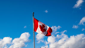 Canada flag. Canada flag in the Sky Royalty Free Stock Photography
