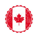 Canada flag stamp with grunge. Vector illustration Royalty Free Stock Photo