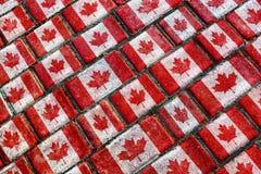 Canada Flag Urban Grunge Pattern Stock Photos