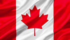 Canada flag waving with the wind, 3D illustration. 3D rendering Stock Images