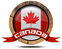 Canada Flag - Wooden Icon Royalty Free Stock Photo
