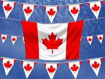 Canada Flags Royalty Free Stock Photo