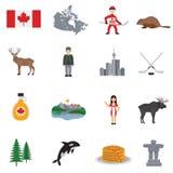 Canada Flat Icons Set Royalty Free Stock Photo
