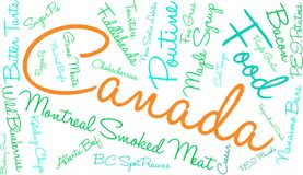 Canada Food Word Cloud. On a white background Stock Photos