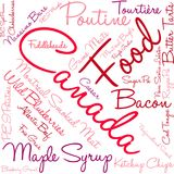 Canada Food Word Cloud. On a white background Stock Photography