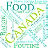 Canada Food Word Cloud. On a white background Stock Image