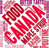 Canada Food Word Cloud vector illustration