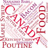 Canada Food Word Cloud. On a white background Royalty Free Stock Photography