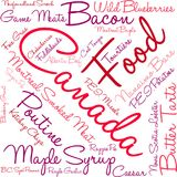 Canada Food Word Cloud. On a white background Stock Photo