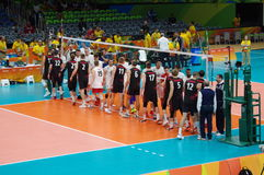 Canada and France men's national volleyball team at Rio2016 Stock Images