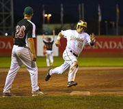 Canada games baseball men runner speed base Stock Photos