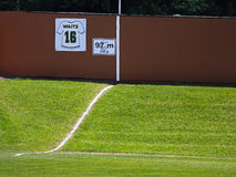 Canada games baseball outfield hill fence Royalty Free Stock Image