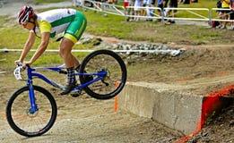 Canada games mountain biking woman jump Royalty Free Stock Photos