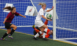 Canada games soccer women ball keeper action Royalty Free Stock Photo