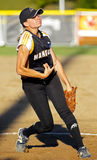 Canada games softball woman pitcher arm Royalty Free Stock Images