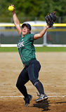 Canada games softball woman pitcher ball Royalty Free Stock Photos