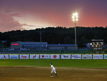 Canada games softball woman sky sunset Stock Image
