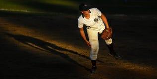 Canada games softball woman sun spotlight Royalty Free Stock Photography