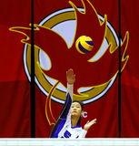Canada games volleyball woman serve Royalty Free Stock Images