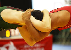 Canada games wrestling men headlock Royalty Free Stock Image