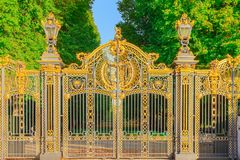Canada Gate, a grand entrance into the Green Park stock image