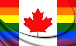 Canada Gay Flag Royalty Free Stock Photography