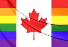 Canada Gay Flag Royalty Free Stock Image