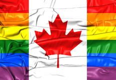 Canada Gay Flag Stock Photography