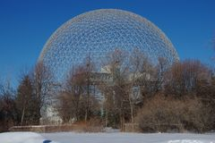 Canada, Geodesic Dome of the Montreal Biosphere royalty free stock photo