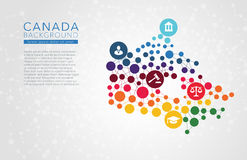 Canada gestippelde vectorachtergrond Stock Afbeelding