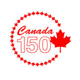 Canada 150 graphic in circle frame Stock Photos
