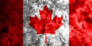 Canada grunge flag on old dirty wall.  Stock Images