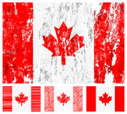 Canada grunge flag set Stock Photos