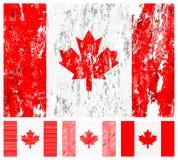 Canada grunge flag set Stock Photos