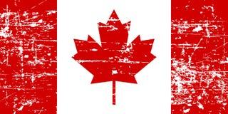 Canada grunge old flag, isolated on white background, illustration. royalty free illustration