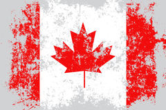 Canada grunge, old, scratched style flag Royalty Free Stock Photos