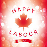 Canada happy labour day Stock Images
