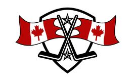 Canada Hockey Logo Design Template. Vector Royalty Free Stock Photo