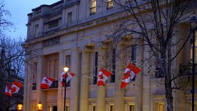 Canada house in London - LONDON, ENGLAND - DECEMBER 10, 2019