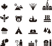 Canada icon set Royalty Free Stock Images
