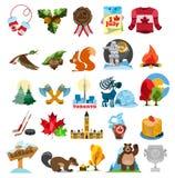 Canada icon set royalty free illustration