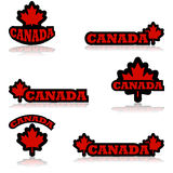 Canada icons Royalty Free Stock Photography