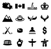 Canada Icons Stock Photography