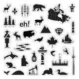 Canada Icons. Set of assorted Canadian icons Stock Photo