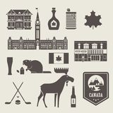 Canada icons Royalty Free Stock Photos