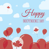 Canada Independence Day Flat Patriotic Design. Royalty Free Stock Photography