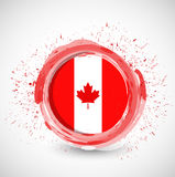 Canada ink circle flag illustration design Royalty Free Stock Images