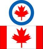 Canada Insignia. Vector illustration of canada aircraft insignia stock illustration