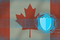 Canada internet protection. Computer safety concept. Royalty Free Stock Images