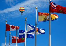 The Canada and its provincial flags Stock Photos